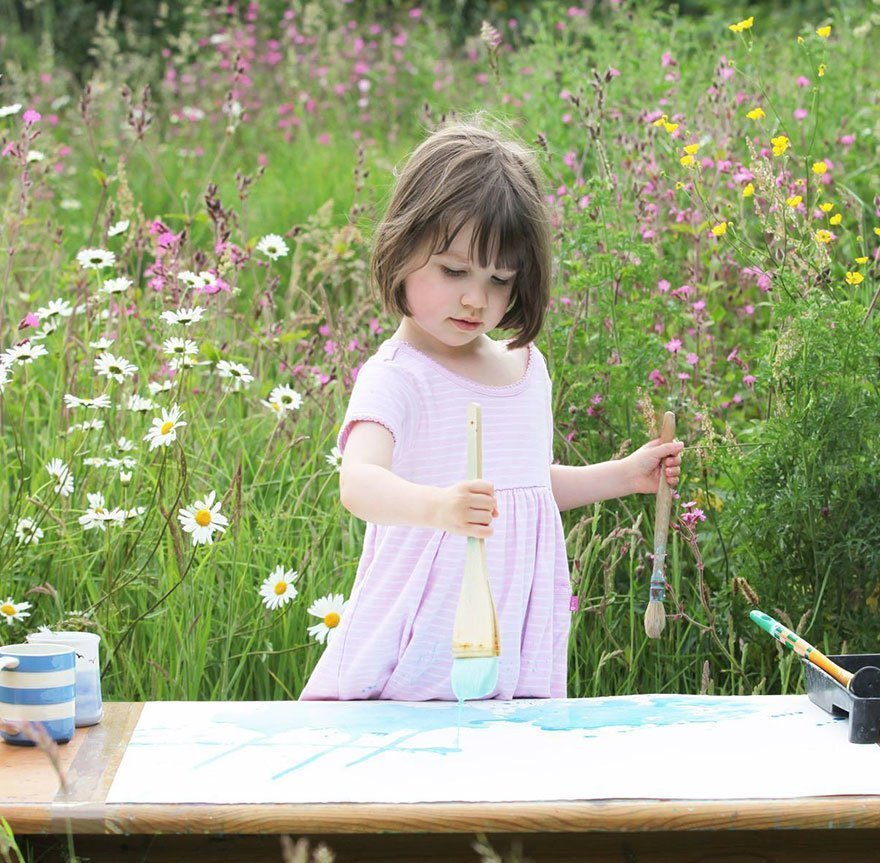 5 Years Old Creates Stunningly Beautiful Paintings AND She Is Autistic!!